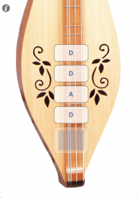 Dulcimer Tuner Simple Mixolydian